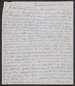 Beauford Delaney letter to Lawrence Calcgano, Paris 1957