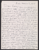 [Beauford Delaney letter to Lawrence Calcgano, Paris 1959 ]