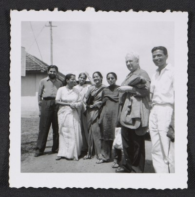 Alexander Calder with members of the Sarabhai family
