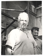 Alexander Calder and an unidentified man.