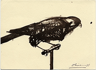 Nathan Oliveira sketch of a bird