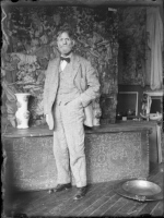 Emil Carlsen in his studio