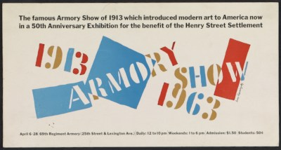 [Poster for the Armory Show 50th anniversary exhibition]