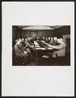 Homer Saint-Gaudens at a meeting with fellow members of the Association of Art Museum Directors