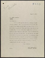 Homer Saint-Gaudens letter to Winston Churchill