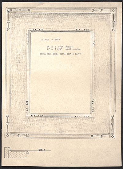 Sketch design for a picture frame