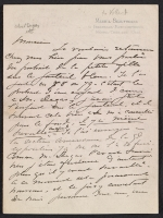 Mary Cassatt letter to Ambroise Vollard