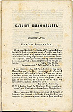 [Catlin's Indian Gallery, New York page ]