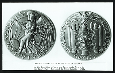 World War I memorial medal