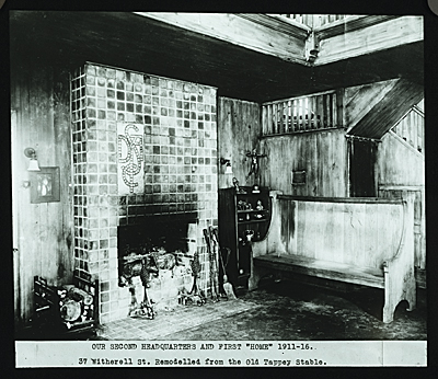 Detroit Society of Arts and Crafts building at 37 Witherell, Street, Detroit. Interior view