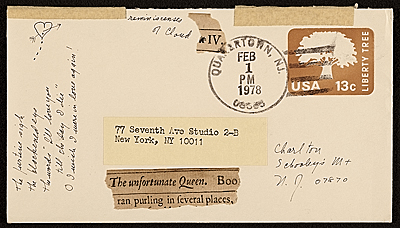 [Envelope from Lenore Tawney to Maryette Charlton with five photographs enclosed]