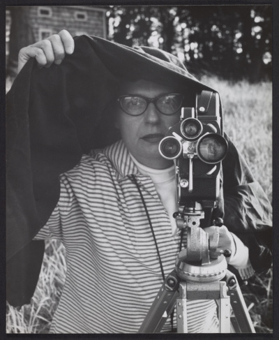 [Maryette Charlton filming on Schooley's Mountain]