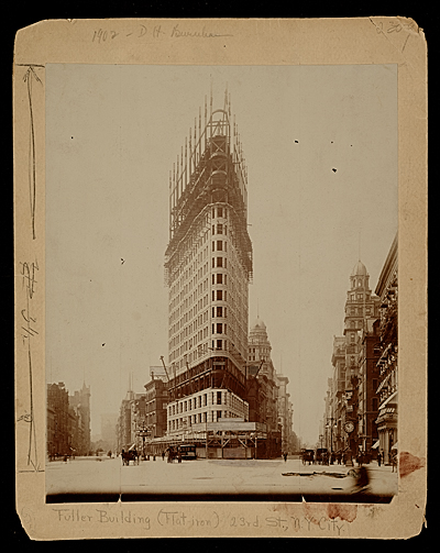 [Flatiron Building under construction]