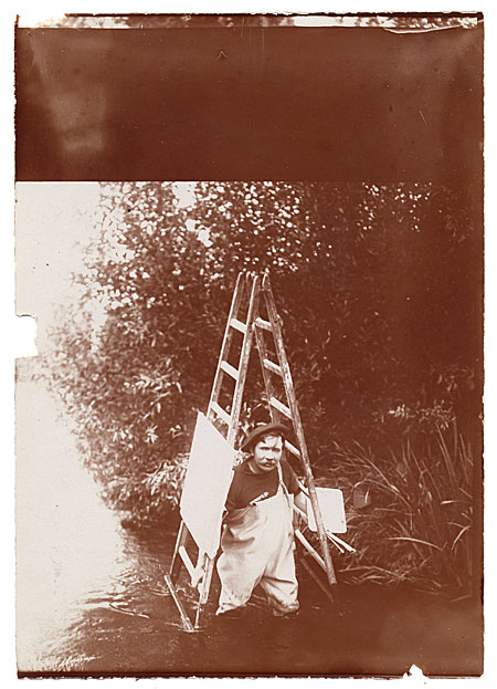 Aston Knight carrying a ladder