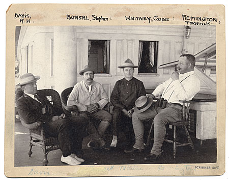 [R.H. Davis, Stephen Bonsal, Caspar Whitney, and Frederic Remington]