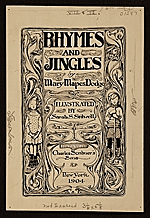 Book cover design for Rhymes and Jingles by Mary Mapes Dodge