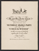 [Invitation to Victorian Stable Party ]