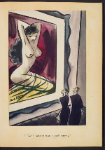 [G. Alan Chidsey scrapbook of cartoons about art and artists' models page 28]
