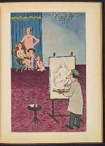 [G. Alan Chidsey scrapbook of cartoons about art and artists' models page 70]