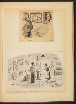 [G. Alan Chidsey scrapbook of cartoons about art and artists' models page 72]