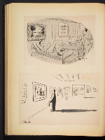 [G. Alan Chidsey scrapbook of cartoons about art and artists' models page 73]