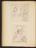 [G. Alan Chidsey scrapbook of cartoons about art and artists' models page 81]