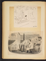[G. Alan Chidsey scrapbook of cartoons about art and artists' models page 83]