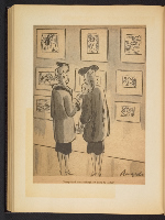 [G. Alan Chidsey scrapbook of cartoons about art and artists' models page 85]