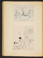 [G. Alan Chidsey scrapbook of cartoons about art and artists' models page 89]