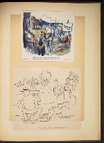 [G. Alan Chidsey scrapbook of cartoons about art and artists' models page 92]