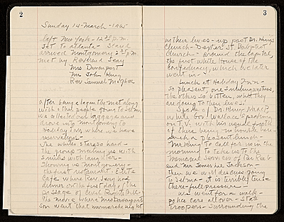 William Christopher diary of march from Selma to Montgomery, Alabama