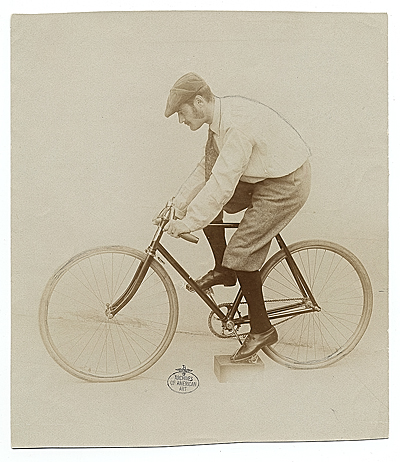 Lyonel Feininger on a bicycle