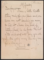 Frederick Stuart Church letter to unknown recipient