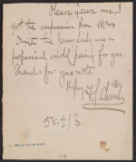 Frederick Stuart Church letter to unidentified recipient