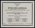 [Flyer for Eyes on Africa, Cinque Gallery 1]