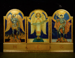 Angel of Victory Triptych for Camp Breckinridge, Kentucky by Violet Oakley