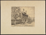 Gabrielle de Veaux Clements etching of a house