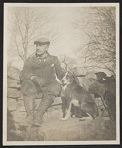 William Anderson Coffin with his dog