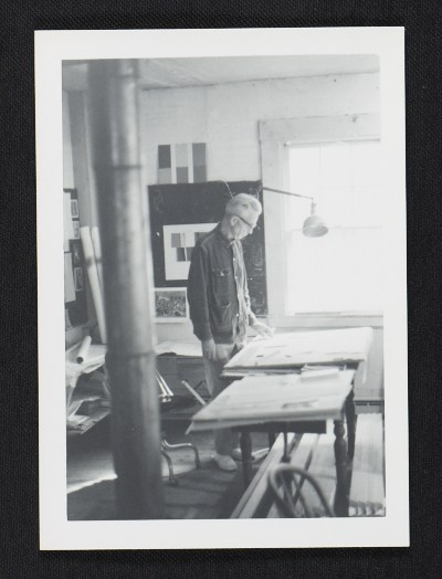 [Calvert Coggeshall in his studio]