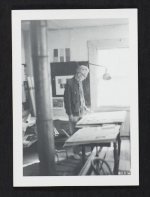 [Calvert Coggeshall in his studio ]