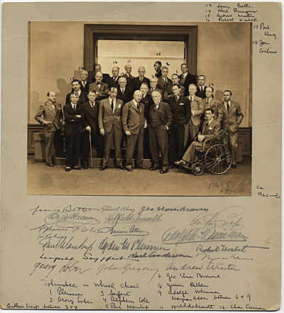 Twenty-six members of the National Academy of Design