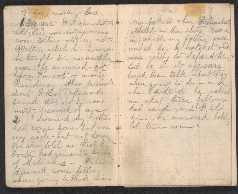 Henry Mosler's illustrated notebook entry