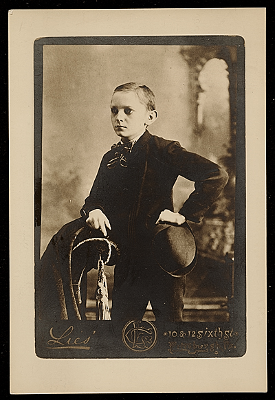 [Charles J. Connick as a boy]