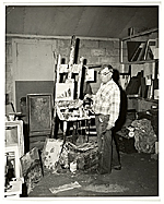 Jay Hall Connaway at work in his studio