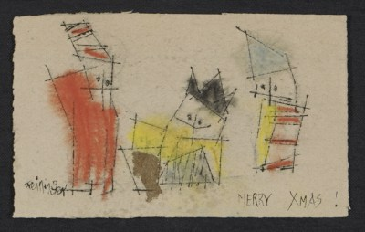 Lyonel Feininger Christmas card to George Constant