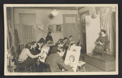 George Constant at the Dayton Art Institute, teaching in class