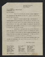 Committee of New York artists letter to Holger Cahill