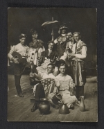 George Constant and fellow art students  in costume for a school play