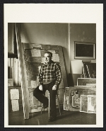 George Constant in his New York studio