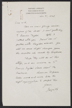 George L. Stout letter to W. G. Constable